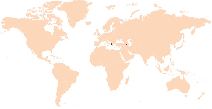 Worldmap With Europe Region Highlighted